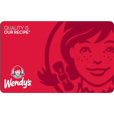 $50 Wendy's Physical Gift Card - FREE Standard 1st Class Mail Delivery