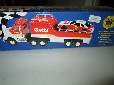 Nib Getty Truck Race Car 1995 Limited Edition Toy Race Car Carrier Collect Rare