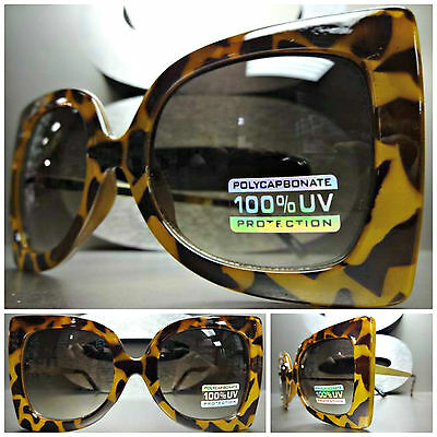 CLASSIC VINTAGE RETRO EXAGGERATED CAT EYE Style SUN GLASSES Tortoise Gold Frame