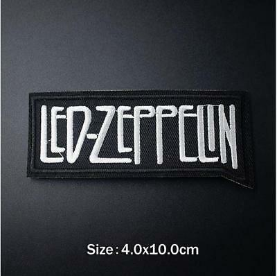 LED ZEPPELIN IRON ON EMBROIDERED PATCH MUSIC ROCK BAND 10cm x 4cm LEGENDS