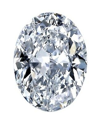 Moissanite Forme Ovale Forever One Libre VVS1 G-H-I Couleur Excellente Coupe