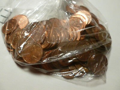 Lot of 100 Circulated Canadian Pennies, 1970's through End of Minting