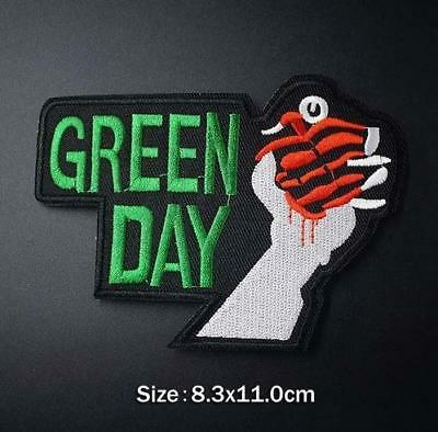 Green Day Logo Iron On Sew On Embroidered Patch Music Bands Rock Punk Legends