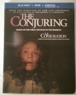 The Conjuring (Blu-ray/DVD, 2013, 2-Disc Set w/ Lenticular Slipcover
