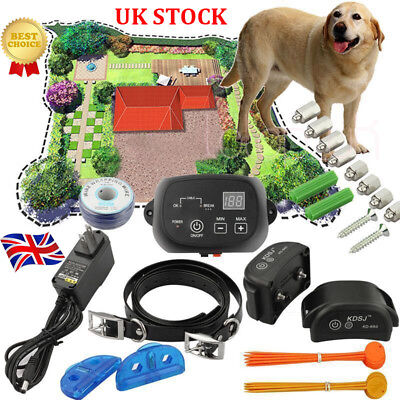 Newest Electric Dog Fence 2 Wireless Shock Collar Waterproof Hidden System in UK