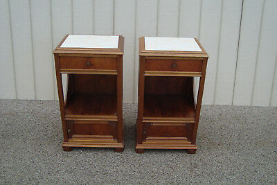 59571 Pair Mahogany Deco Nightstands End Table Stand s