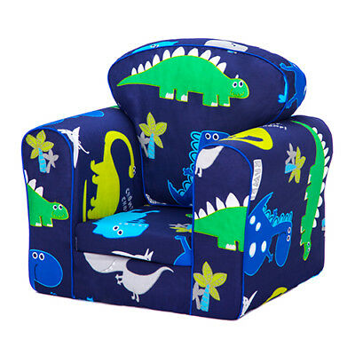 Dinosaurs Children's Armchair Kids Toddler Seat Removable Cover Boys Sofa Chair