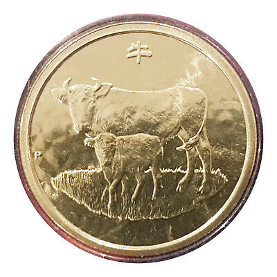 Australia 2009 Lunar New Year of The Ox $1 One Dollar UNC Coin Perth Mint