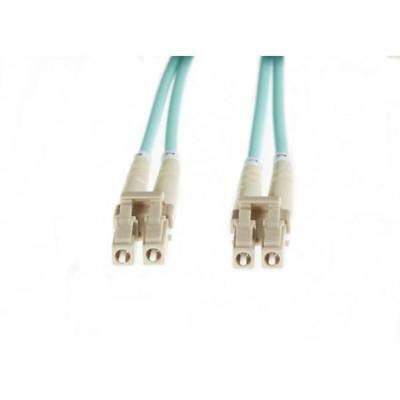 Aqua Lc-Lc Om3 Multimode Fibre Optic Cable