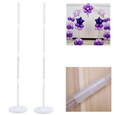 2 SET Balloon Arch Frame Column Stand Builder Kits for Birthday Wedding Party