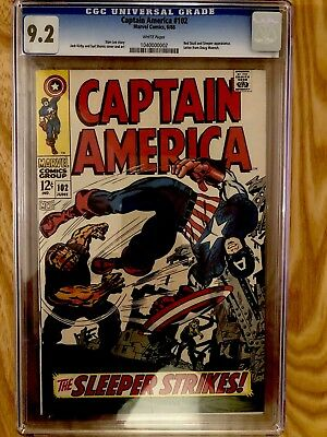 Captain America # 102 Cgc 9.2 - Kirby Art Marvel