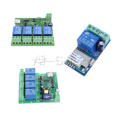 1/4 Channel WiFi Wireless Relay Switch Control Module With APP DC/AC 5V/12V/220V
