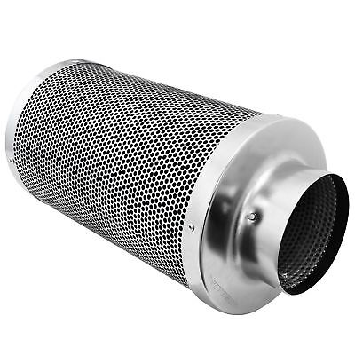 "Air Carbon Charcoal Filter Inline Fan Scrubber Odor Control 4"" W/Stainless Steel"