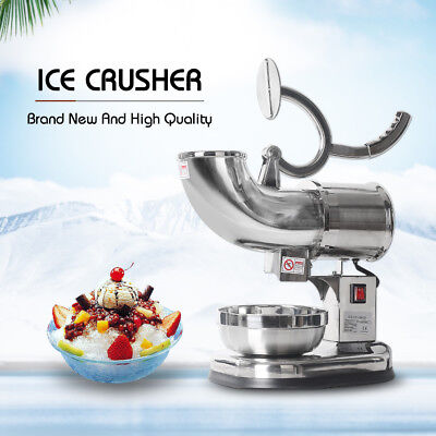 ITOP Ice Crusher Shaver Machine Snow Cone Maker Shaved Ice Stainless Steel 110V