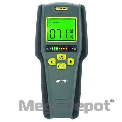 General Tools MMD7NP, Pinless LCD Moisture Meter with Tricolor Bar Graph