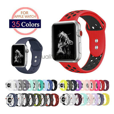 Soft Silicone Sport Watch Band Strap For Apple Watch iWatch Series 4 3 2 44/42mm