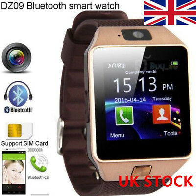 UK DZ09 Sports Smart Watch Phone & Camera Bluetooth Apple & Android Compatible