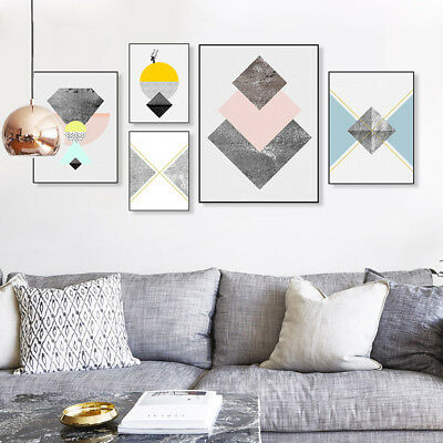 Nordic Abstract Geometric Poster Print Home Decor Wall Art Canvas Painting