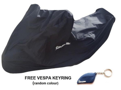 High Quality Lx Vespa Scooter Rain Dust Cover With Logo & Pouch In Black