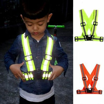 Security Lightweight Night High Visibility Kids Vest Reflective Safety Stripes