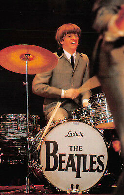 Postcard - Ringo Starr in Concert in the 1960s The Beatles Vintage Unused A08
