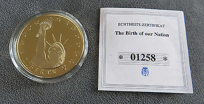 The Birth of our Nation: Statue of Liberty - Polierte Platte 2009, Cu vergoldet