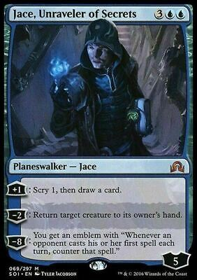 Jace, Unraveler of Secrets ~ Shadows over Innistrad ~ NearMint ~ Magic MTG