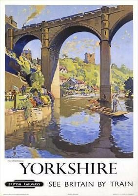 Yorkshire British Railway Illustrated Travel | Vintage Poster | A1, A2, A3