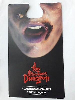 The Alton Towers Resort & NEW Dungeon 2019 Laughand Scream 2 For 1 Entry Voucher