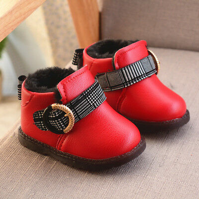 Baby Girl Winter Warm Shoes Snow Boots Infant Toddler Walking Shoes Casual Size