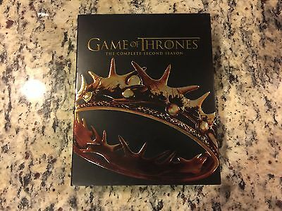 Game Of Thrones Complete Second 2Nd 2 Season Blu Ray + Dvd 7 Disc Set Like New!
