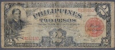 1936 Phillipines Two Pesos Treasury Certificate