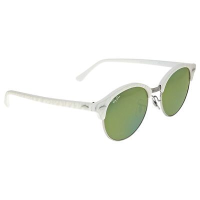 fa38d0b6d11c5 Authentic Ray-Ban Unisex Sunglasses RB4246 White Round Clubmaster 988 2X  Size 51