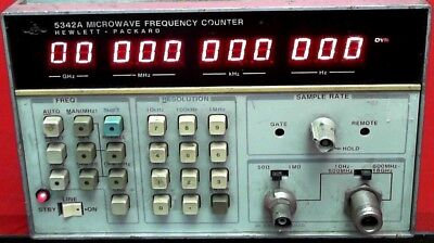 HP - Agilent - Keysight 5342A Frequency Counter, 10Hz to 18GHz SN:2232A60916