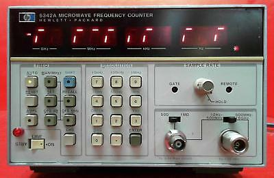 HP - Agilent - Keysight 5342A Frequency Counter, 10Hz to 18GHz SN:2746A11769