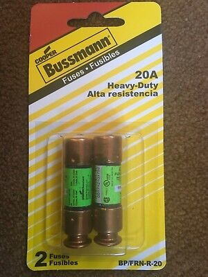 Cooper Bussmann 2-Pack HD 20-Amp Time Delay Cartridge Fuse  - Same day shipping