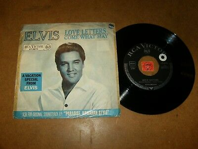 Elvis Presley - Love Letters - Come What May - 45 Ps Germany  / Listen