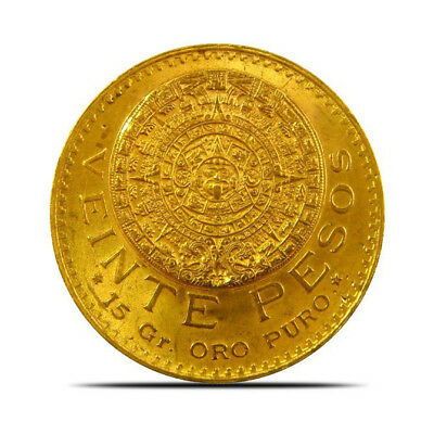 Mexico 20 Peso Gold Coin (0.4823 oz) Random Years Extremely Fine (XF) or Better