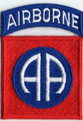 U.S.ARMY WW2 CUT-EDGE 82nd AIRBORNE DIVISION PATCH (No.1)