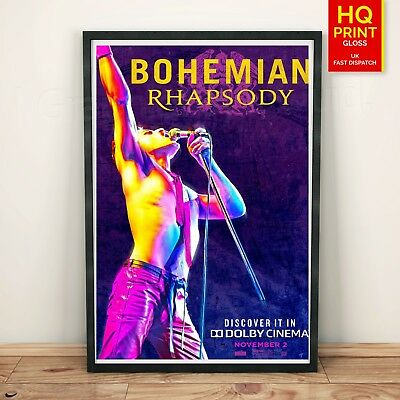 Queen Bohemian Rhapsody poster Dolby Cinema | A4 A3 A2 A1 | Wall Decal