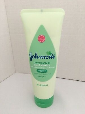Johnson's Baby Creamy Oil Aloe Vera & Vitamin E 8 oz Tube (Mosquito Repellent)