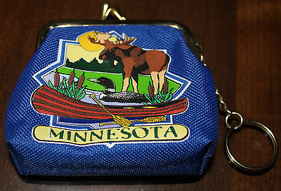 Minnesota - coin purse with key chain