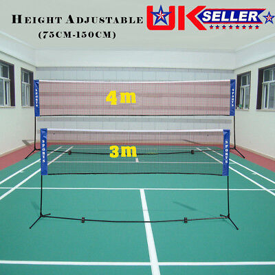 BADMINTON SET  LINES NET Single Double COURT Adjustable BOUNDRY POLE FIELD