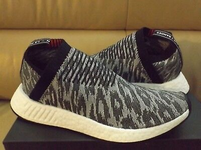c17a4f657db84 ADIDAS NMD CS2 Primeknit Men s Shoes Size 9.5 Black Gray Red BZ0515 ...