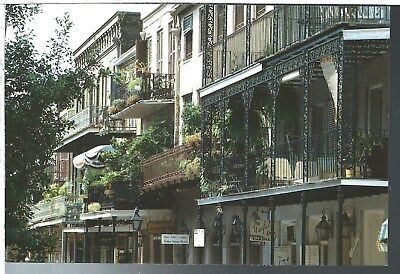 New Orleans Louisiana LA Lace Balconies Vintage Postcard Chrome Robertson