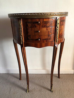 French Antique Bedside Tables Louis XV with decorative inlay