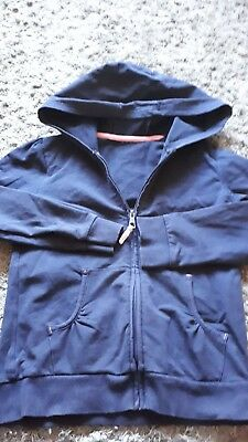 Girls Navy Zip Sweat Jacket Aged 8/9yrs