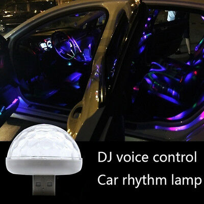 EB_ USB Mini LED Disco Stage Light Party Car Club DJ KTV Magic Phone Ball Lamp G
