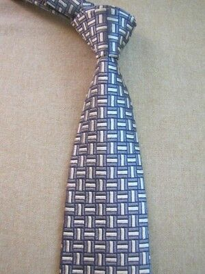 5b217f71fb67 GIANNI VERSACE NECK TIE SILK MADE IN ITALY Gray Silver Bars Woven Italian
