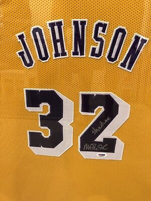 63944c971 MAGIC JOHNSON SIGNED   Autographed Gold Lakers Jersey JSA COA ...